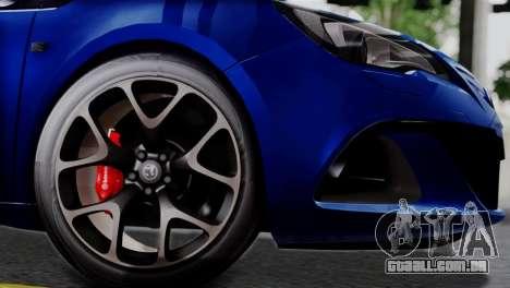 Vauxhall Astra VXR 2012 para GTA San Andreas vista direita