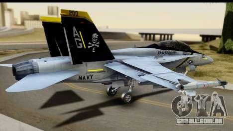 FA-18D VFA-103 Jolly Rogers para GTA San Andreas esquerda vista