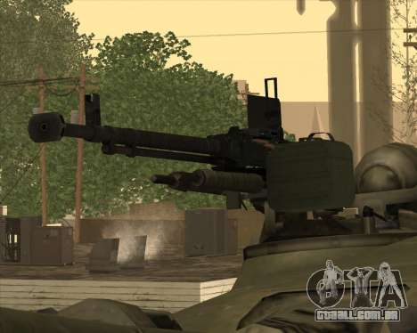 T-72 para vista lateral GTA San Andreas