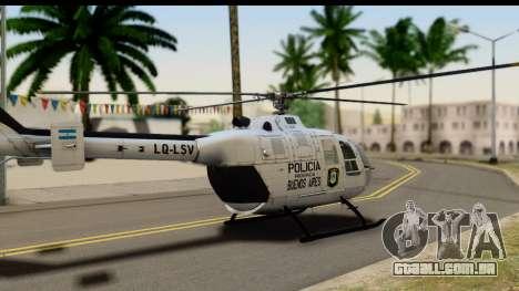 MBB Bo-105 Argentine Police para GTA San Andreas esquerda vista
