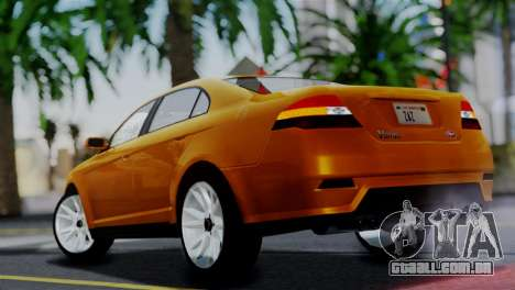 Vapid Interceptor v2 SA Style para GTA San Andreas esquerda vista