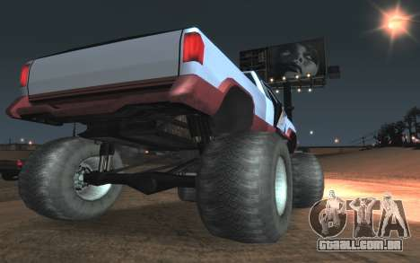 Novas texturas Final do Monstro para GTA San Andreas vista traseira