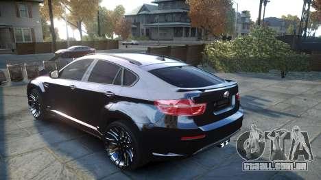 HAMANN BMW X6 2011 Tycoon EVO M v1.0 TSE para GTA 4 traseira esquerda vista
