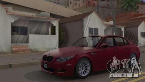 BMW M5 E60 2009 Stock para GTA San Andreas vista traseira