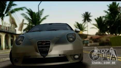 Alfa Romeo Mito Tuning para GTA San Andreas traseira esquerda vista