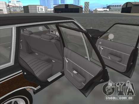 Plymouth Volare Wagon 1976 wood para GTA San Andreas vista interior