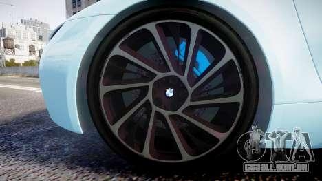 BMW i8 2013 para GTA 4 vista de volta