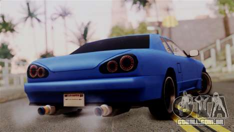 Elegy Full Customizing para GTA San Andreas esquerda vista