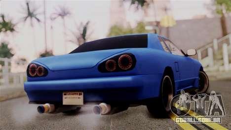 Elegy Full Customizing para GTA San Andreas esquerda vista