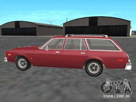 Plymouth Volare Wagon 1976 para GTA San Andreas esquerda vista