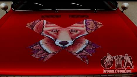 VAZ 2101 FOX para GTA San Andreas vista traseira