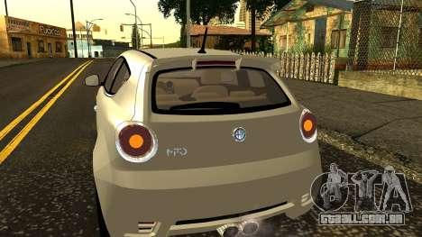 Alfa Romeo Mito Tuning para GTA San Andreas vista superior