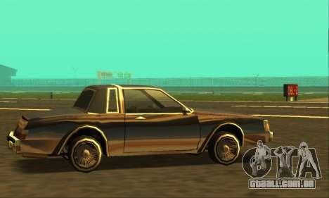 Majestic Restyle para GTA San Andreas vista direita