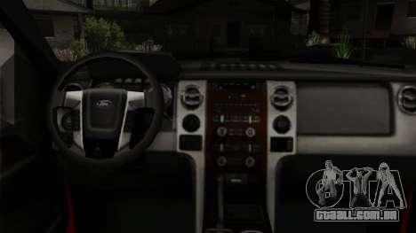 Ford F150 Off Road para GTA San Andreas vista direita