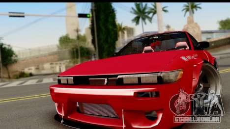 Nissan Silvia S13 Rocket Bunny para GTA San Andreas traseira esquerda vista