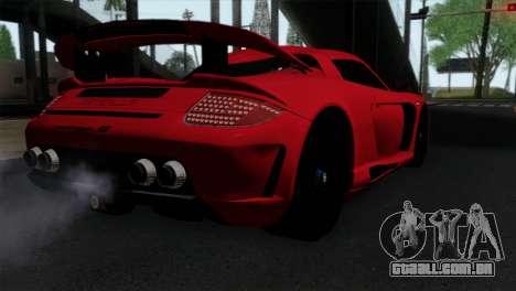 Gemballa Mirage GT v3 Windows Up para GTA San Andreas esquerda vista