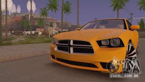Dodge Charger SRT8 2012 Stock Version para GTA San Andreas esquerda vista