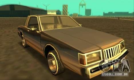 Majestic Restyle para GTA San Andreas traseira esquerda vista