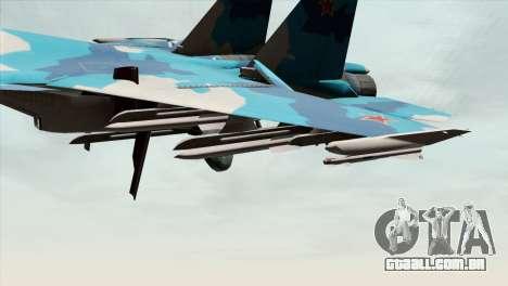 SU-33 Flanker-D Blue Camo para GTA San Andreas vista direita