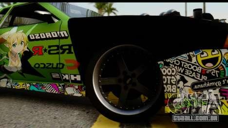 Elegy Leafa SAO Camber para GTA San Andreas traseira esquerda vista