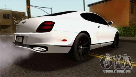 Bentley Continental SS 2010 para GTA San Andreas esquerda vista