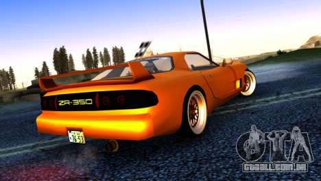 ZR-350 by Verone v.1 para GTA San Andreas traseira esquerda vista