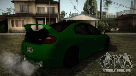 Dodge Neon SRT-4 Custom 2006 para GTA San Andreas esquerda vista