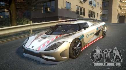 Koenigsegg Agera Polish Highway Patrol Police para GTA 4
