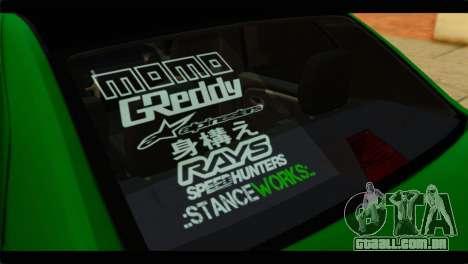 Dacia Logan Stance para GTA San Andreas vista traseira