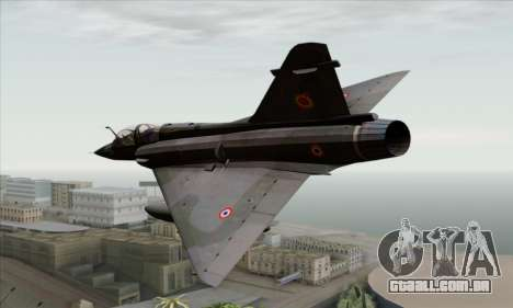 Dassault Mirage 2000-N SAM para GTA San Andreas esquerda vista