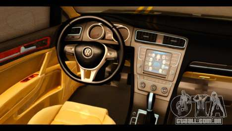 Volkswagen Golf Mk7 2014 para GTA San Andreas vista direita