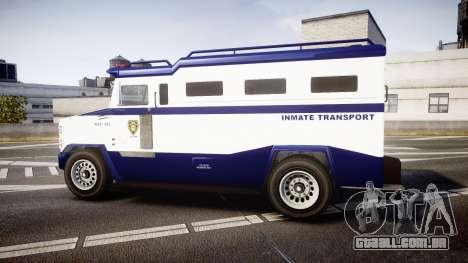 GTA V Brute Police Riot [ELS] skin 3 para GTA 4 esquerda vista