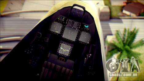 F-22 Raptor Razgriz para GTA San Andreas vista direita