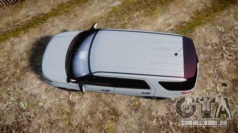 Ford Explorer Police Interceptor 2013 [ELS] para GTA 4 vista direita