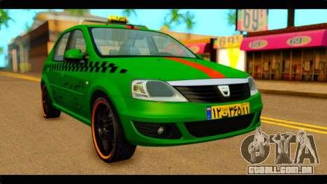 Dacia Logan Iranian Taxi para GTA San Andreas