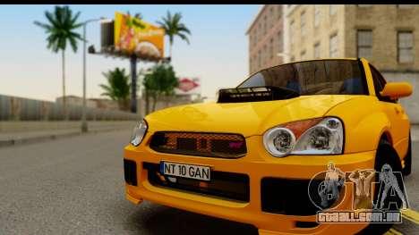 Subaru Impreza WRX STI 2005 Romanian Edition para GTA San Andreas traseira esquerda vista
