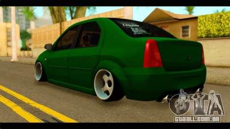 Dacia Logan Stance para GTA San Andreas esquerda vista