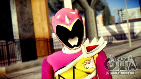 Power Rangers Kyoryu Pink Skin para GTA San Andreas terceira tela