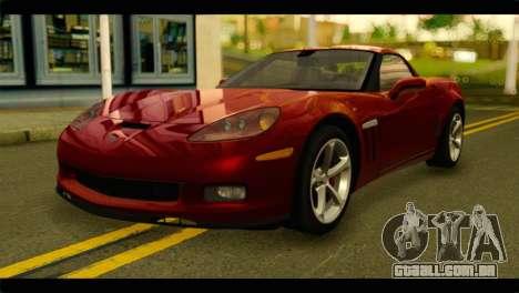 Chevrolet Corvette Grand Sport 2010 para GTA San Andreas