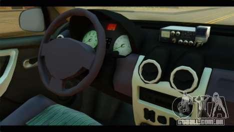Dacia Logan Iranian Taxi para GTA San Andreas vista direita