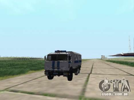 KamAZ-43114 um OMON para GTA San Andreas traseira esquerda vista