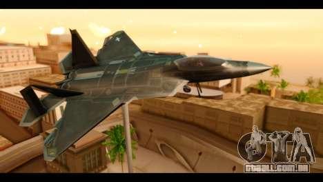 F-22 Raptor Flash para GTA San Andreas