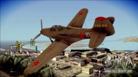 Pokryshkin P-39N Airacobra para GTA San Andreas esquerda vista