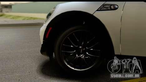 Mini Cooper Clubman 2011 para GTA San Andreas vista traseira