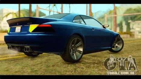 GTA 5 Ubermacht Zion XS para GTA San Andreas esquerda vista