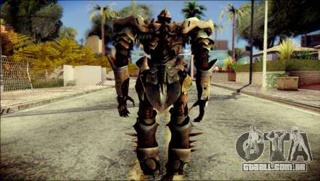 Grimlock Skin from Transformers para GTA San Andreas segunda tela