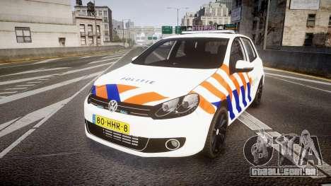 Volkswagen Golf Mk6 Dutch Police [ELS] para GTA 4