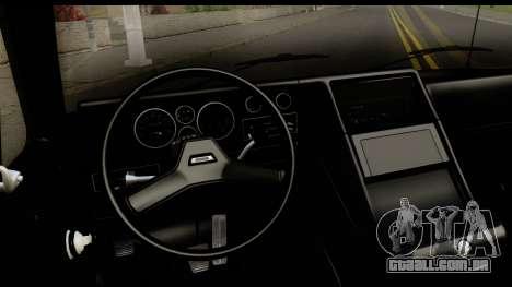 GMC Vandura G-1500 Payday 2 para GTA San Andreas vista interior