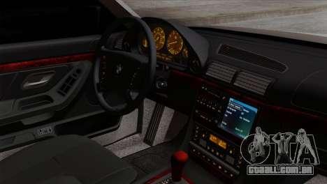 BMW 750iL E38 Romanian Edition para GTA San Andreas vista direita
