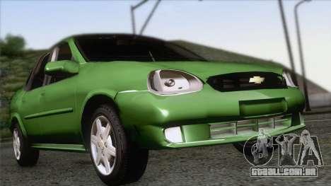 Chevrolet Corsa Classic 2009 para GTA San Andreas vista traseira